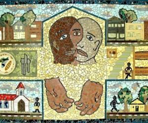 Inter-Faith Council Community Shelter Mosaic.  Photo: Chapel Hill Public & Cultural Arts Office
