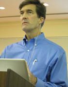 William Lucas discusses his year in Afghanistan. Photo: Joe Mengel