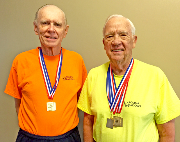 Gold Medal Winners Bill Powers (left) and John Geis.