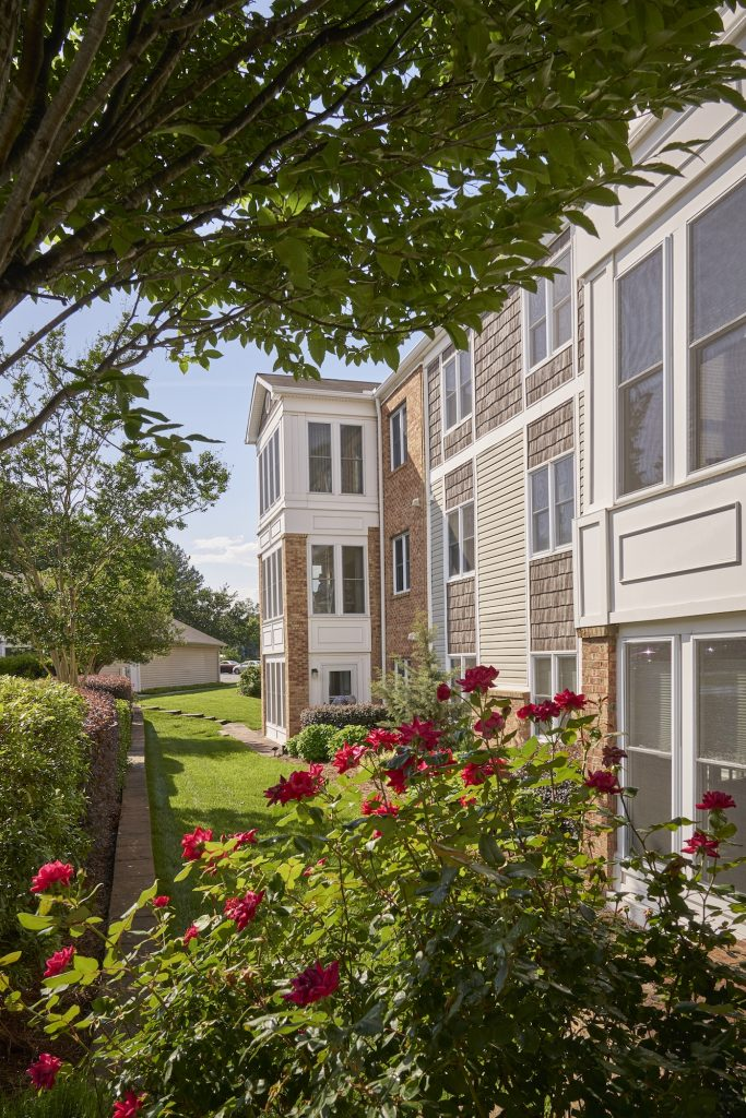 Exterior view of a Carolina Meadows apartment